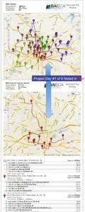 Sample trip routing map